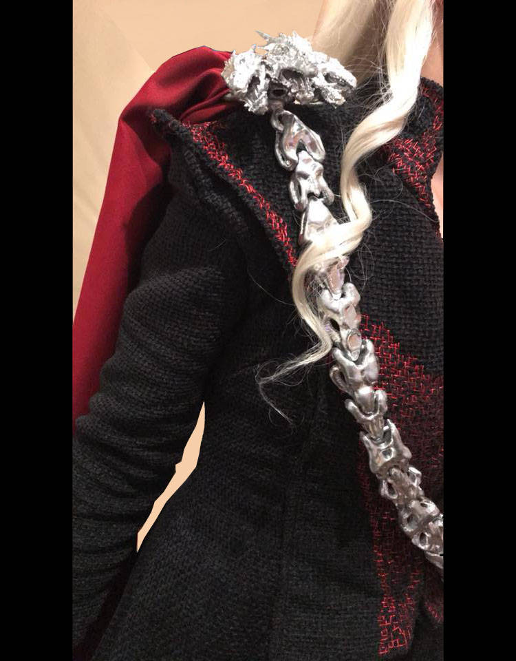 Daenerys Dragon Chain and Detachable Brooch